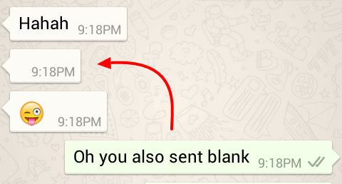 whatsapp blank message without app
