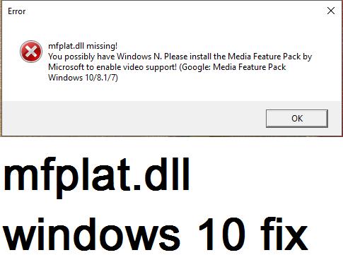Simple steps for mfplat dll windows 10 fix (complete tutorial
