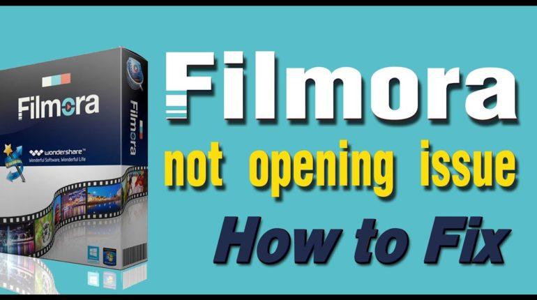 filmora not opening