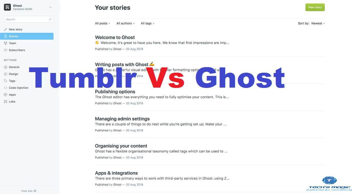 Tumblr alternative Ghost: Is Ghost adult content creators?