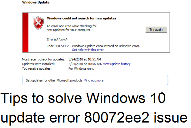 Fix Windows update error code 80072ee2 problem - Techs Magic