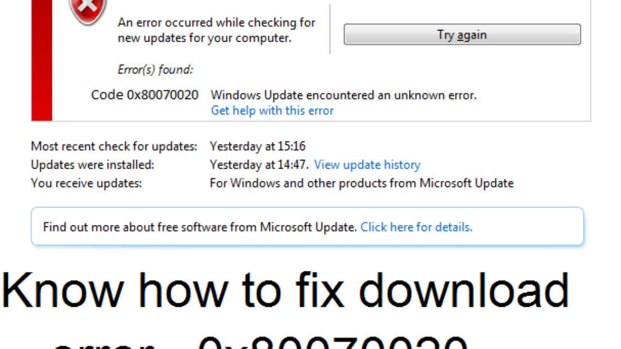 Guide to solve Windows update error 0x80070020 issue - Techs