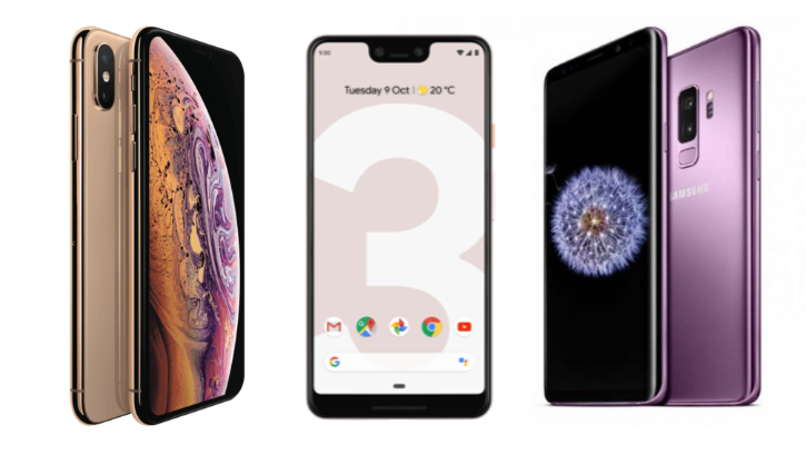 Galaxy S10 Vs iPhone XS Vs Pixel 3