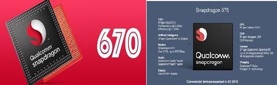 Qualcomm Snapdragon 670 vs Snapdragon 675