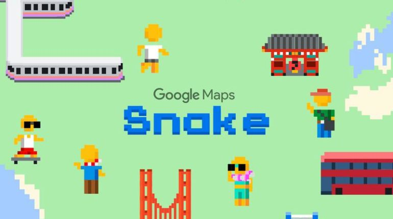 how to play snake game on google