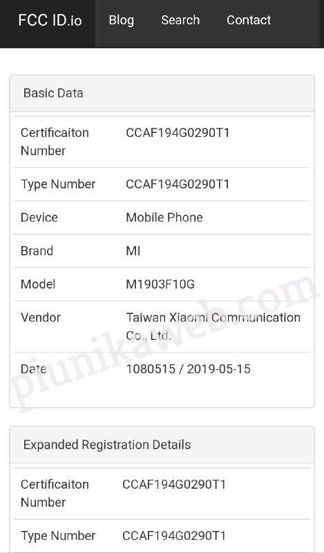 Xiaomi Mi 9T (M1903F10G)
