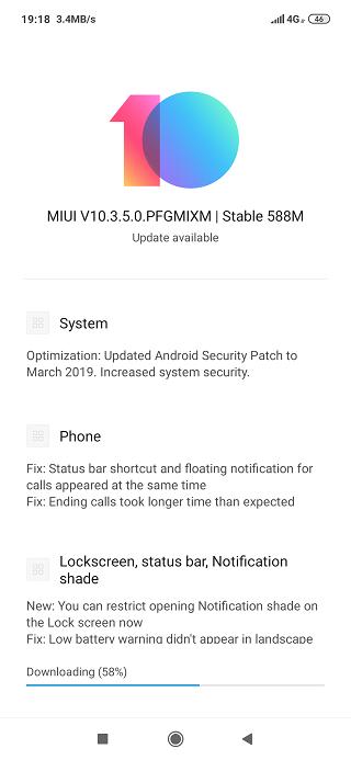 Xiaomi Redmi Note 7 MIUI 10.3.5.0 update India roll out