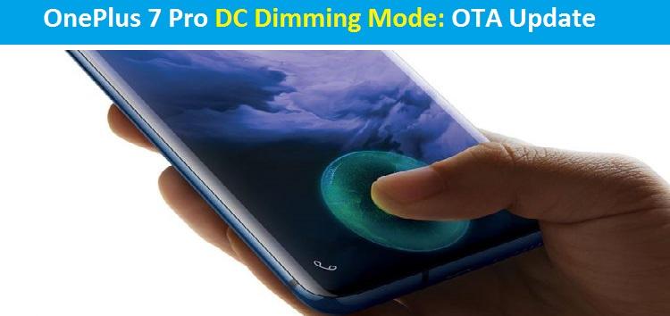 OnePlus 7 Pro DC dimming mode