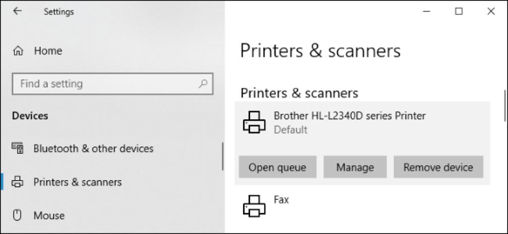 Brother printer drivers Windows 10