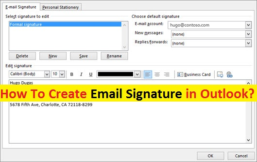 How to create signature in Outlook