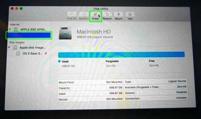 Restore Macbook to Factory Settings