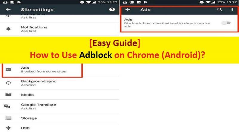 Chrome Android Adblock