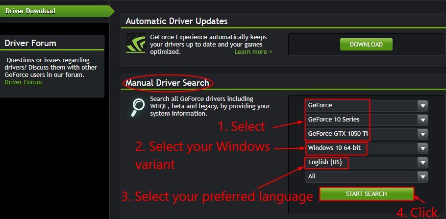 nvidia geforce gtx 1050 download