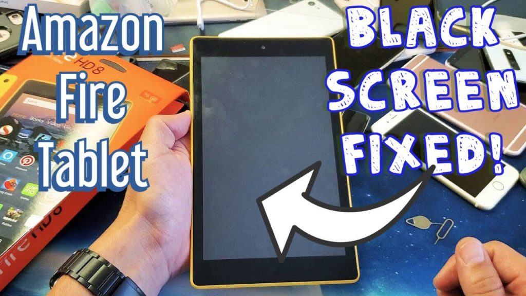 Amazon fire tablet black screen