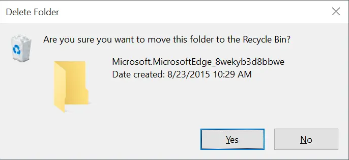 move folder to recycle bin