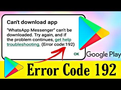 google play error code 192