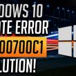 Windows update error code 0x800700c1